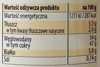 Kajmak - Masa krówkowa o smaku tradycyjnym - Nutrition facts - pl