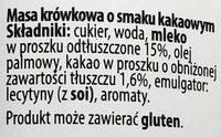 Kajmak masa krówkowa o smaku kakaowym - Ingrediënten - pl