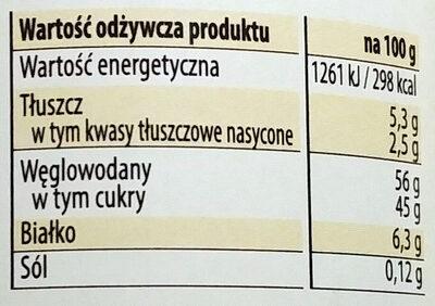 Kajmak masa krówkowa o smaku kakaowym - Voedingswaarden - pl