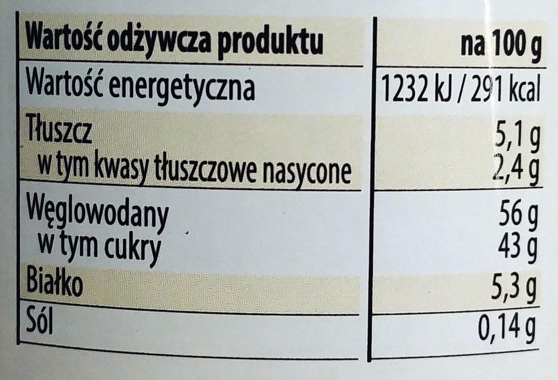 Kajmak - Masa krówkowa o smaku Tiramisu - Voedingswaarden - pl