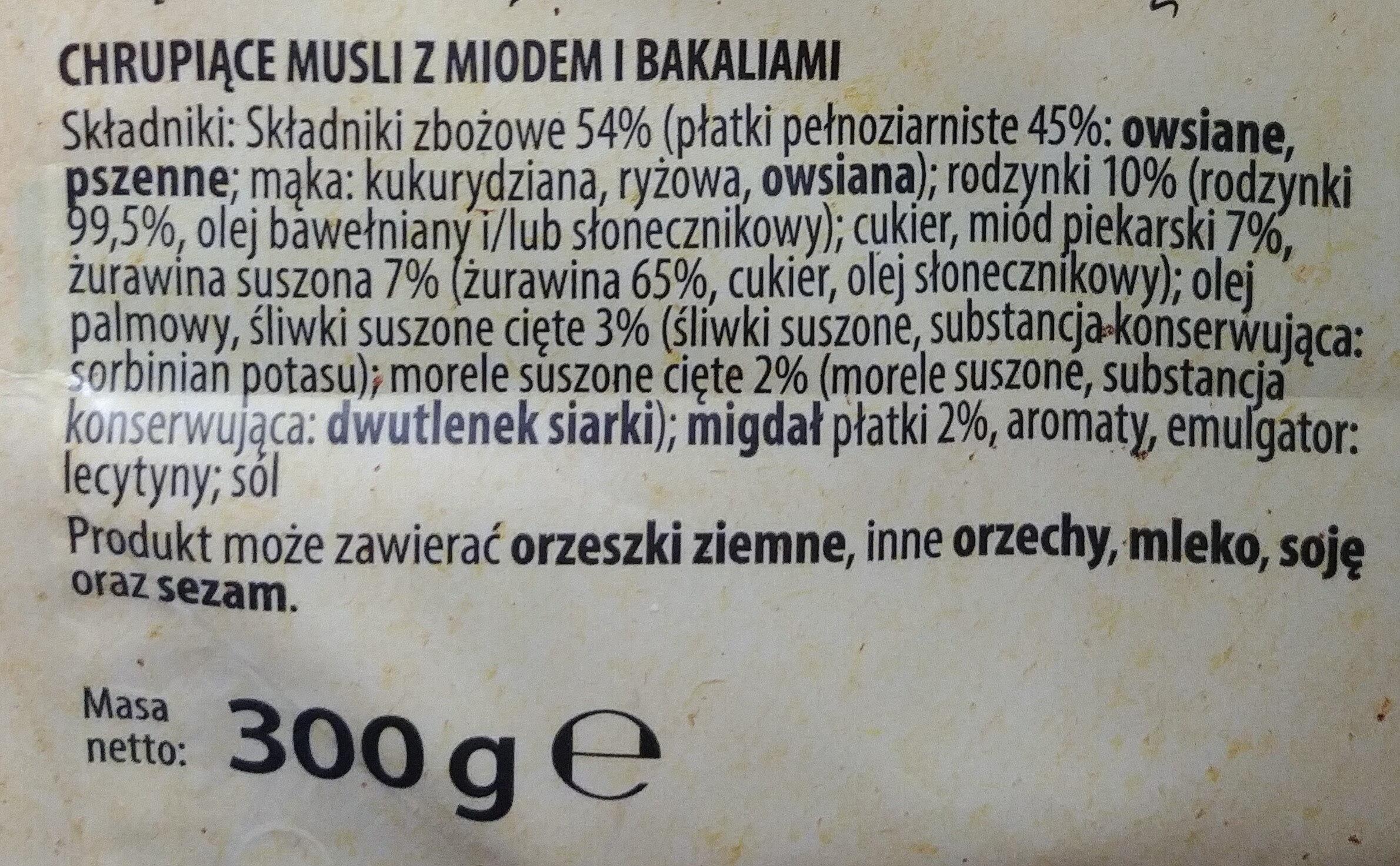 Cereales muesli fruit - Składniki - pl