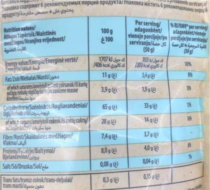 Crunchy muesli - Nutrition facts - en