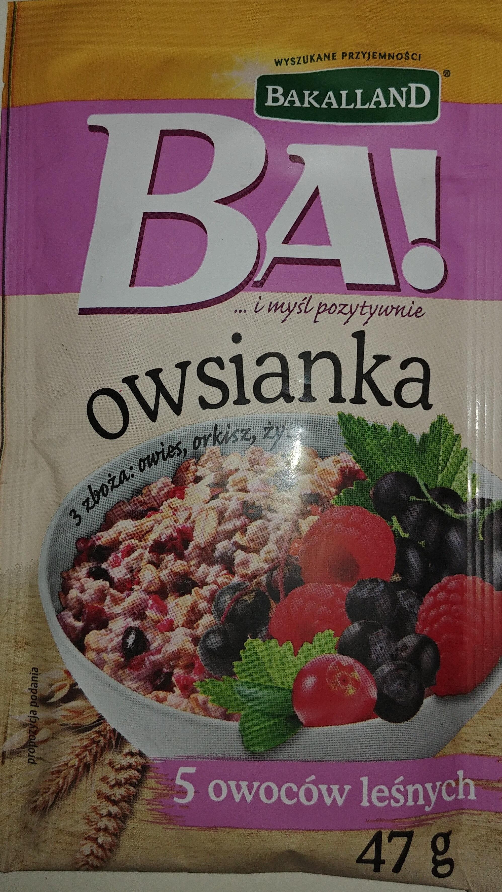 Owsianka z 5 owocami leśnymi - Product - pl