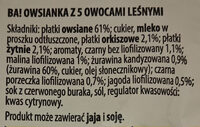 Owsianka z 5 owocami leśnymi - Ingrediënten - pl