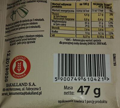 Owsianka z 5 owocami leśnymi - Voedingswaarden - pl