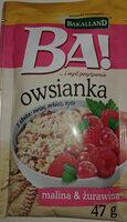 Owsianka z maliną i żurawiną - Product - pl
