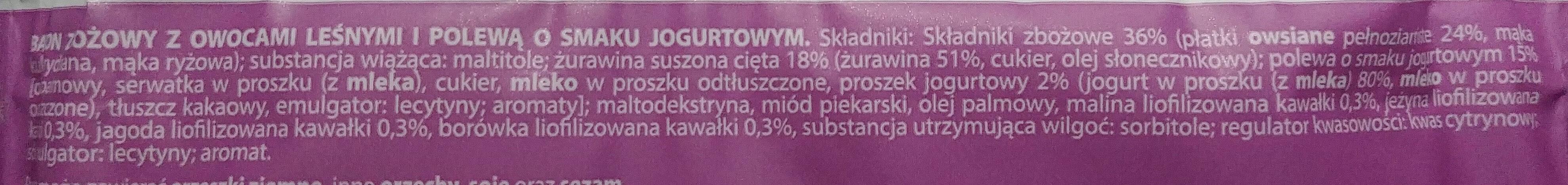 Ba! 5 owoców leśnych - Składniki - pl