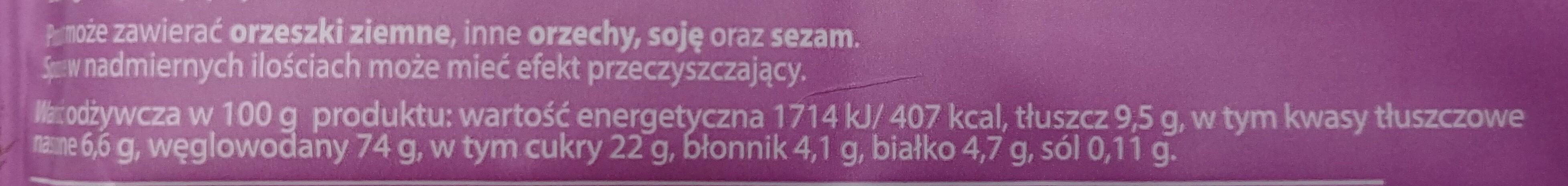 Ba! 5 owoców leśnych - Wartości odżywcze - pl