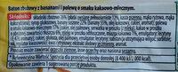 Baton zbożowy z bananami i polewą o smaku kakaowo-mlecznym. - Ingredients - pl