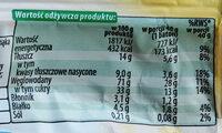 Baton zbożowy z bananami i polewą o smaku kakaowo-mlecznym. - Nutrition facts - pl