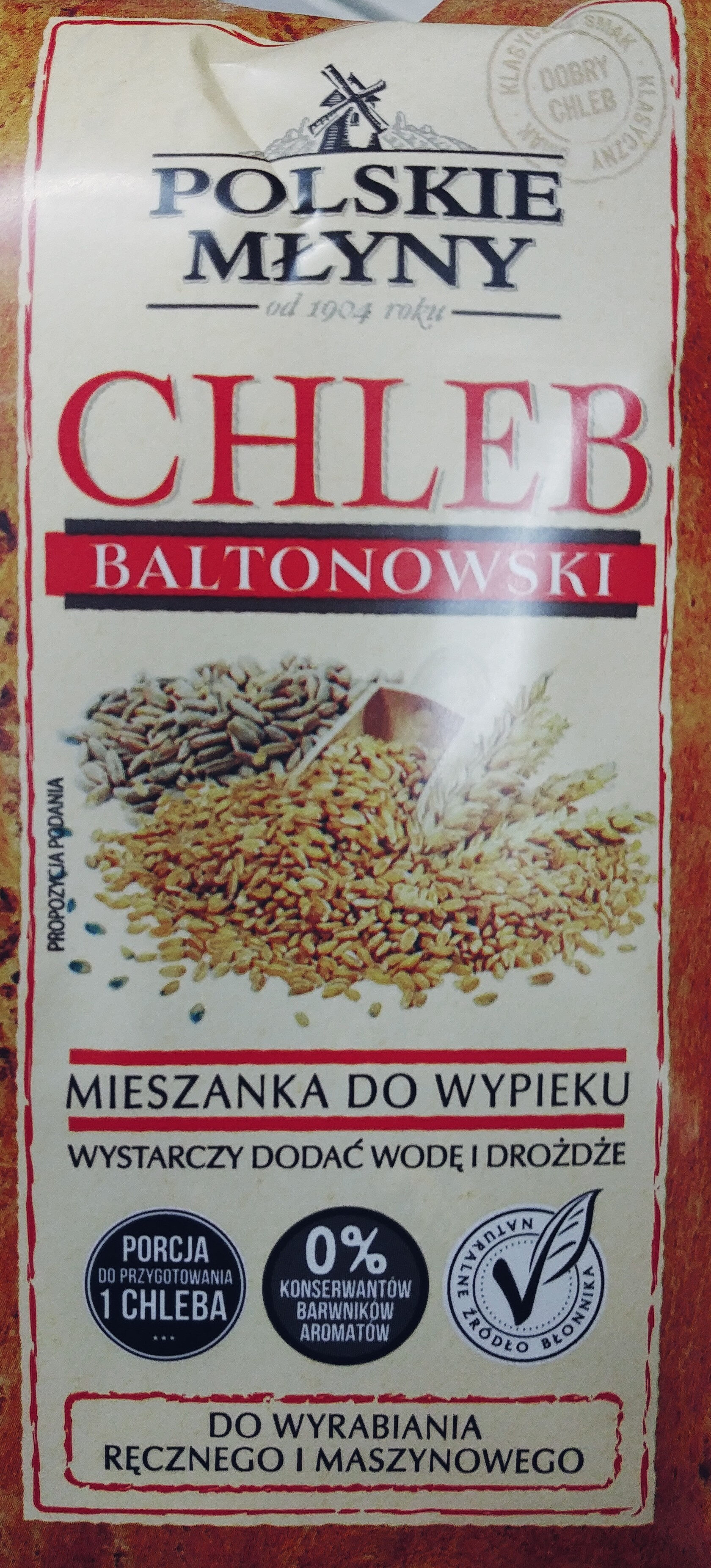 Mieszanka do wypieku chleba pszenno-żytni. Chleb baltonowski - Produkt - pl