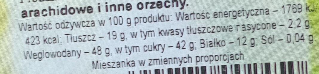Mieszanka Fit Premium - Wartości odżywcze - pl