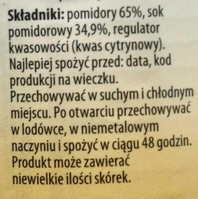 Pomidore krojone bez skórki w sosie pomidorowym. - Składniki - pl