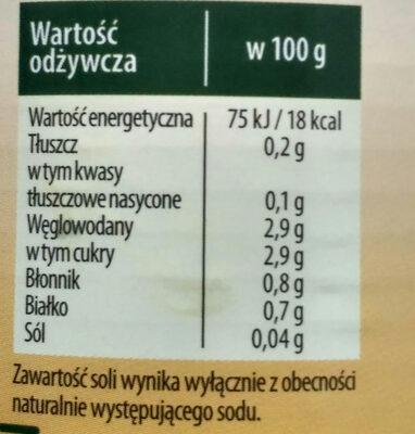 Pomidore krojone bez skórki w sosie pomidorowym. - Wartości odżywcze - pl