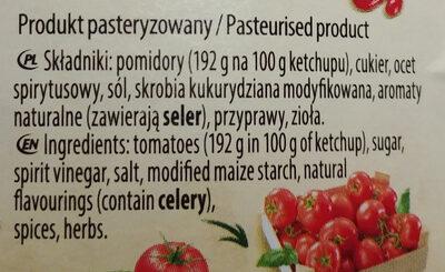 Hot tomato ketchup - Składniki