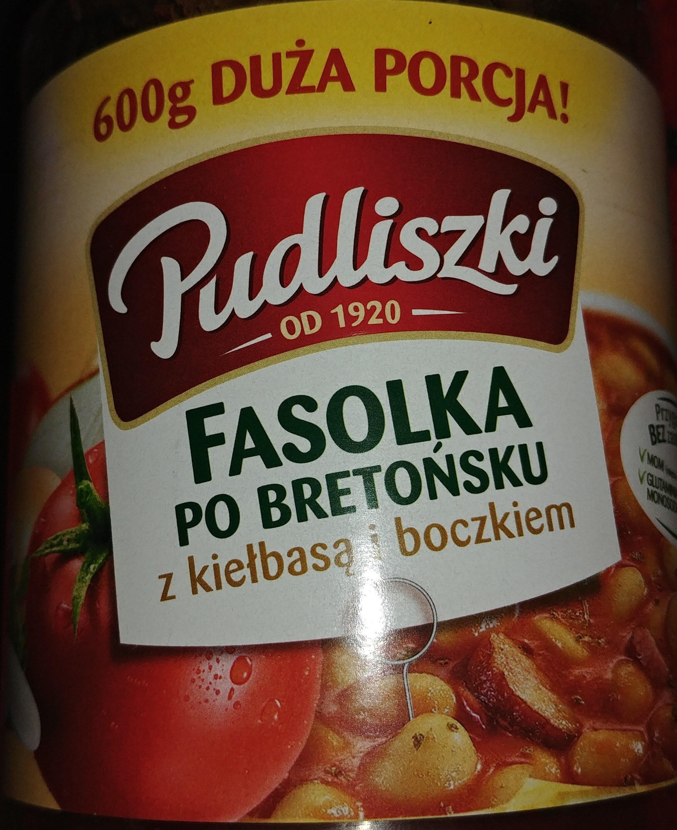 Fasolka po bretońsku z kiełbasą i boczkuem w sosie pomidorowym - Produkt - pl