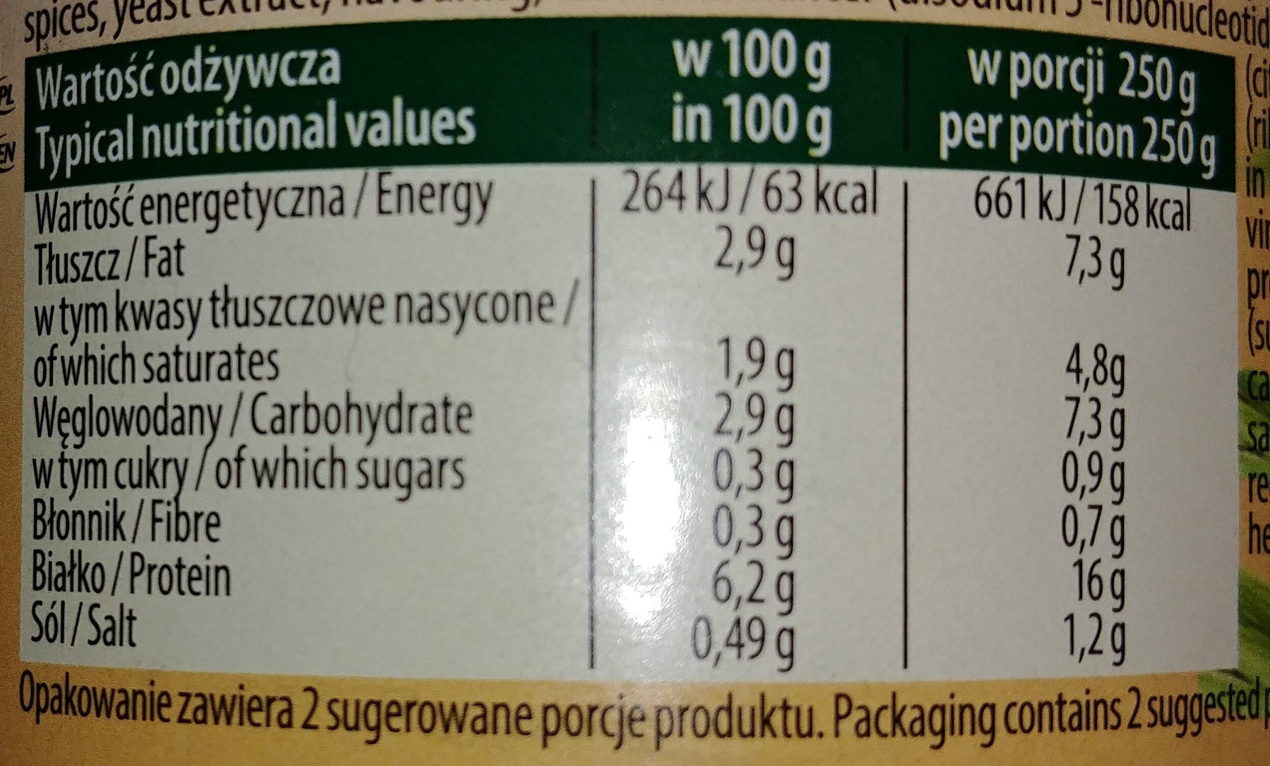 Flaki wołowe po Zamojsku - Wartości odżywcze - pl