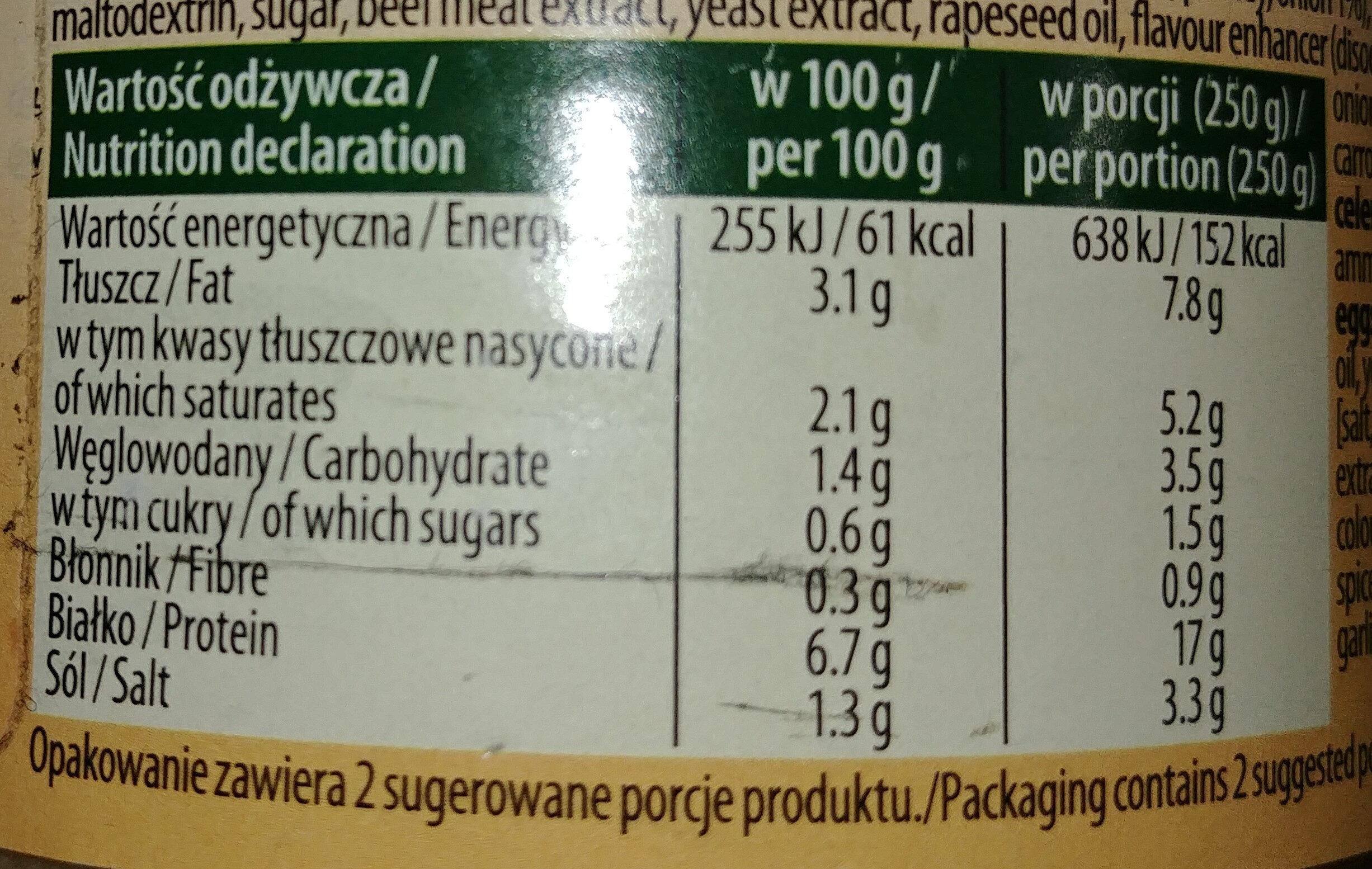 Flaki wołowe w rosole - Wartości odżywcze - pl