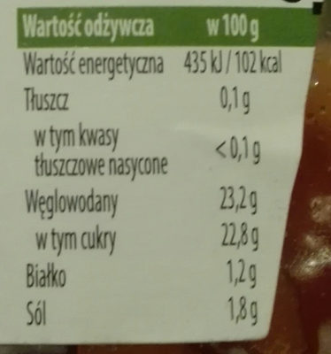 ketchup łagodny - Informations nutritionnelles - pl