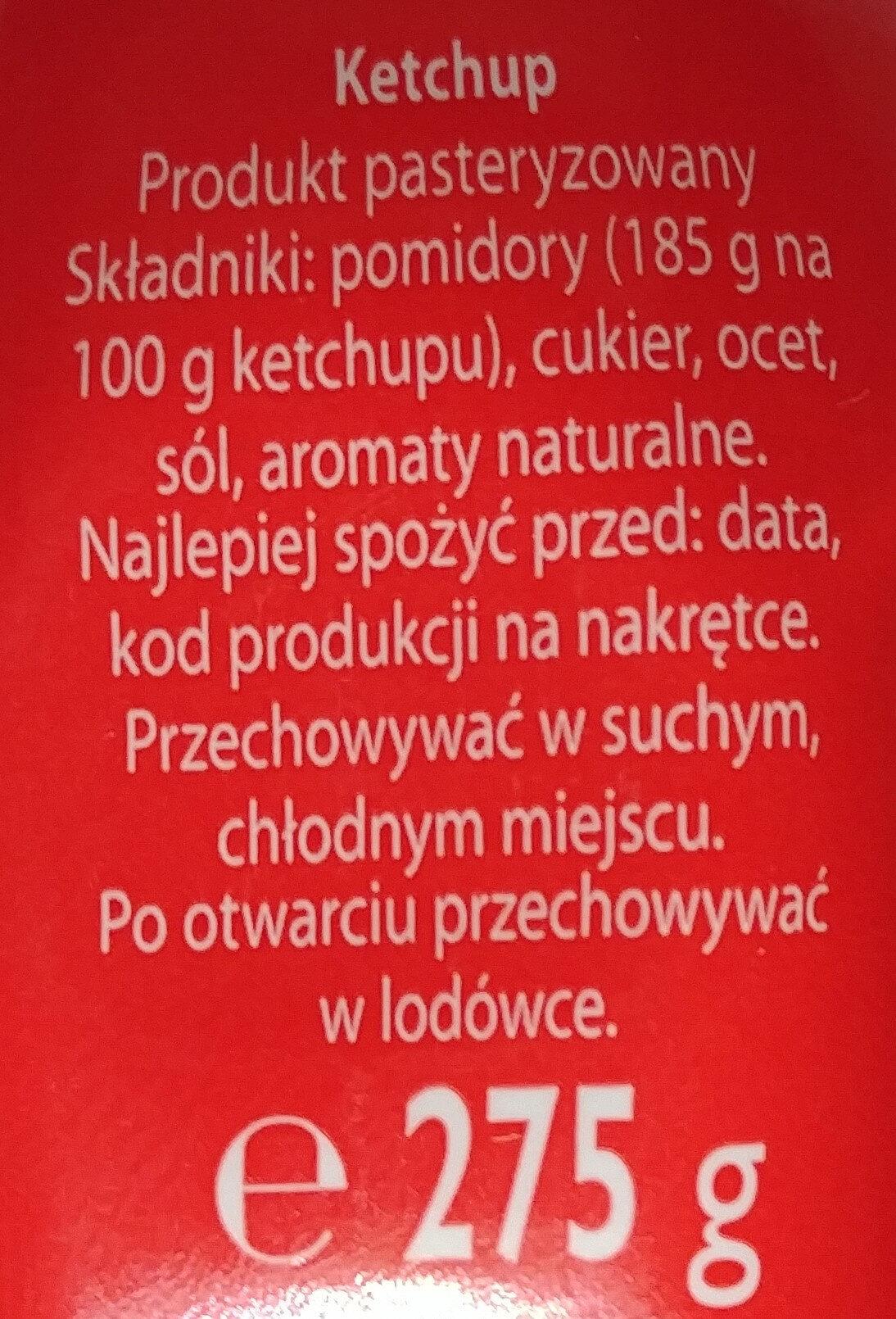 Ketchup łagodny Pudliszek - Ingrédients - pl