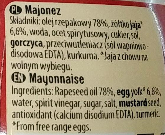 Majonez gęsty kremowy - Ingredients - en