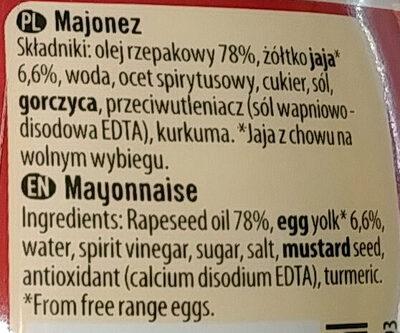 Majonez gęsty kremowy - Ingrédients - pl