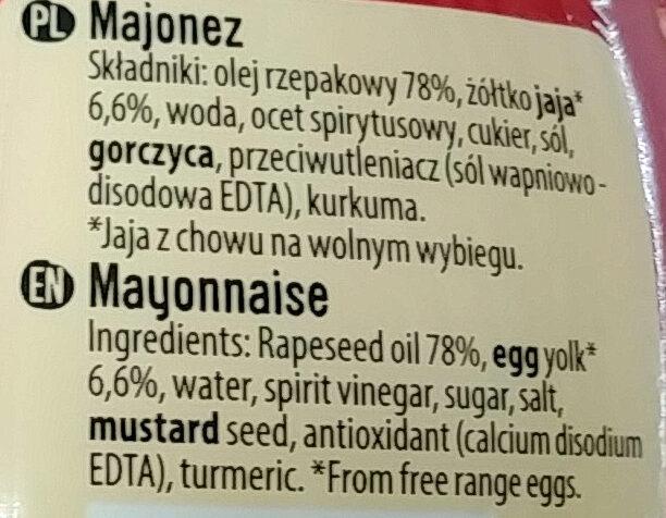 Majonez - Składniki - pl