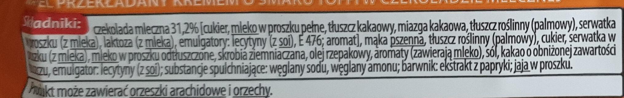 Estella o smaku toffi - Ingrédients - pl