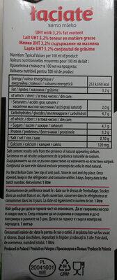 Mleko UHT - Składniki - pl