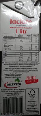 Mleko UHT - Wartości odżywcze - pl