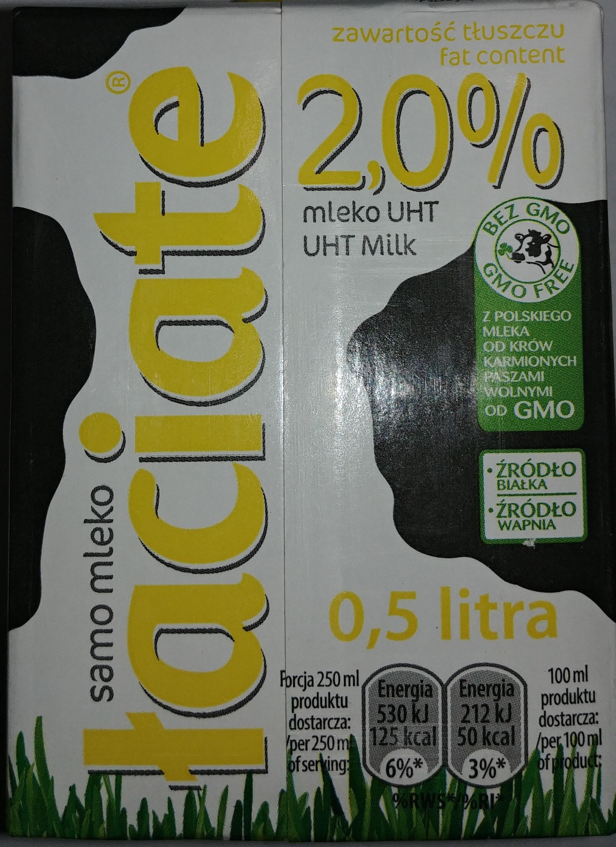 Łaciate Uht Milk 2.0% Fat 0.5 L - Produkt - pl