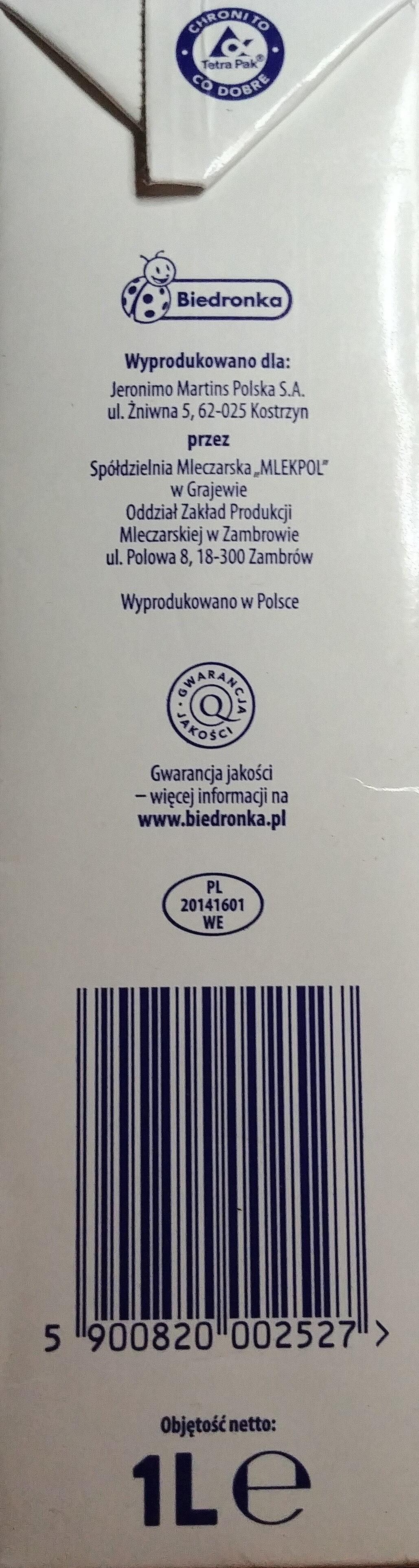 Mleko UHT 0,5 % - Ingrédients