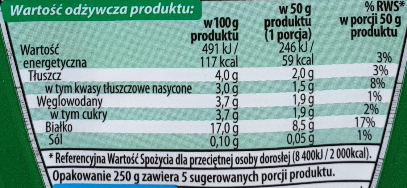 Twaróg Klinek półtłusty - Informations nutritionnelles - pl