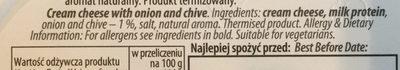 Serek śmietankowy z cebulą i szczypiorkiem - Ingredients - en