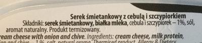 Serek śmietankowy z cebulą i szczypiorkiem - Ingrediënten