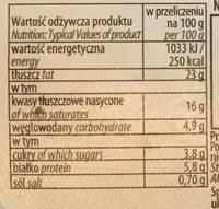 Serek śmietankowy z cebulą i szczypiorkiem - Nutrition facts - pl