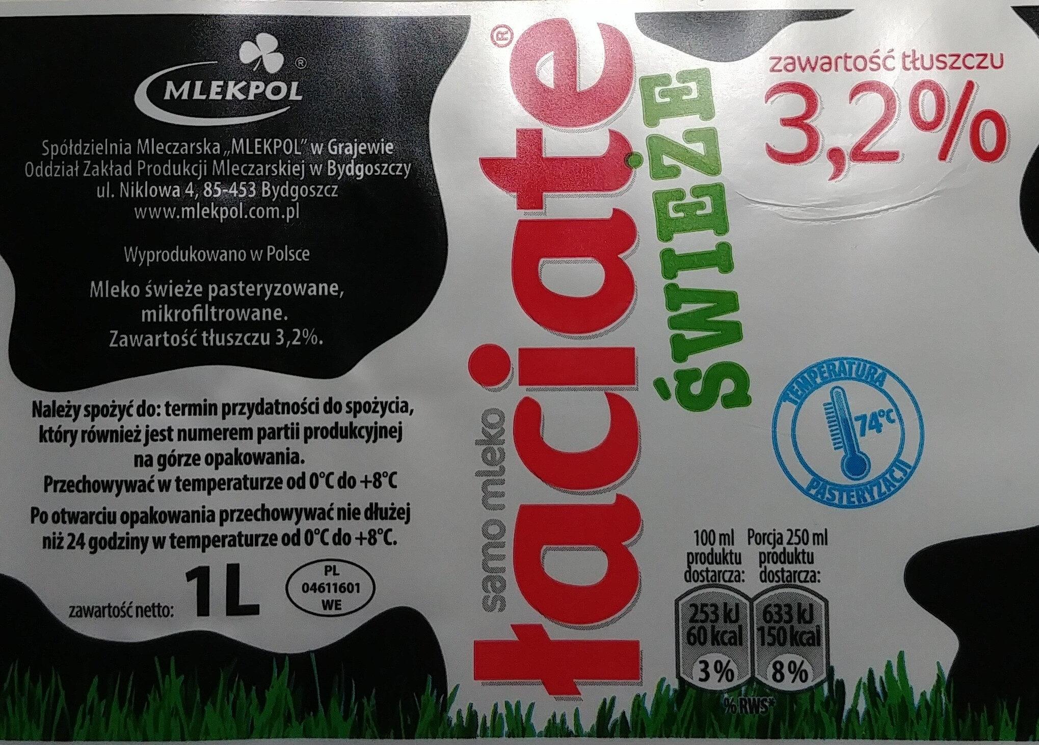 Świeże mleko - Ingredients - pl