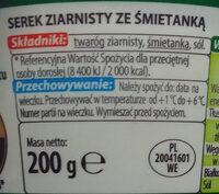 Serek ziarnisty ze śmietanką; Serek wiejski - Składniki - pl