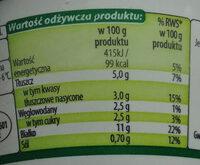 Serek ziarnisty ze śmietanką; Serek wiejski - Wartości odżywcze - pl