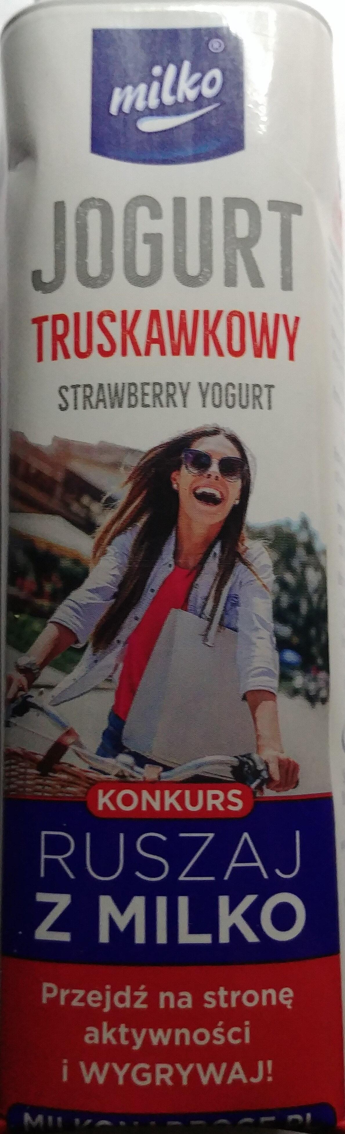 Jogurt pitny truskawkowy - Produkt