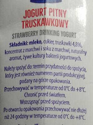Jogurt pitny truskawkowy - Ingredients - pl