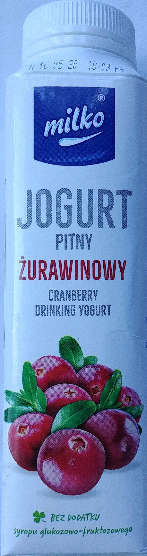 Jogurt pitny żurawinowy - Product - pl