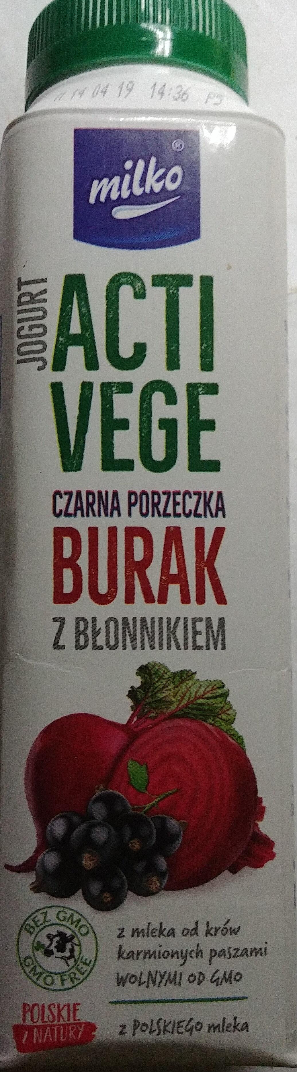 Jogurt pitny czarna porzeczka, burak z błonnikiem - Product - pl