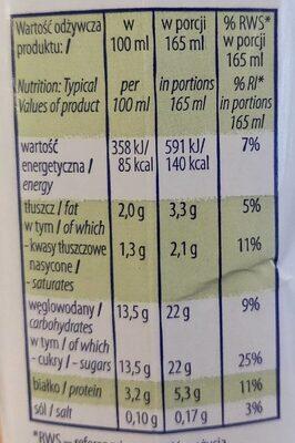 Strawberry & Kiwi Yogurt - Informations nutritionnelles