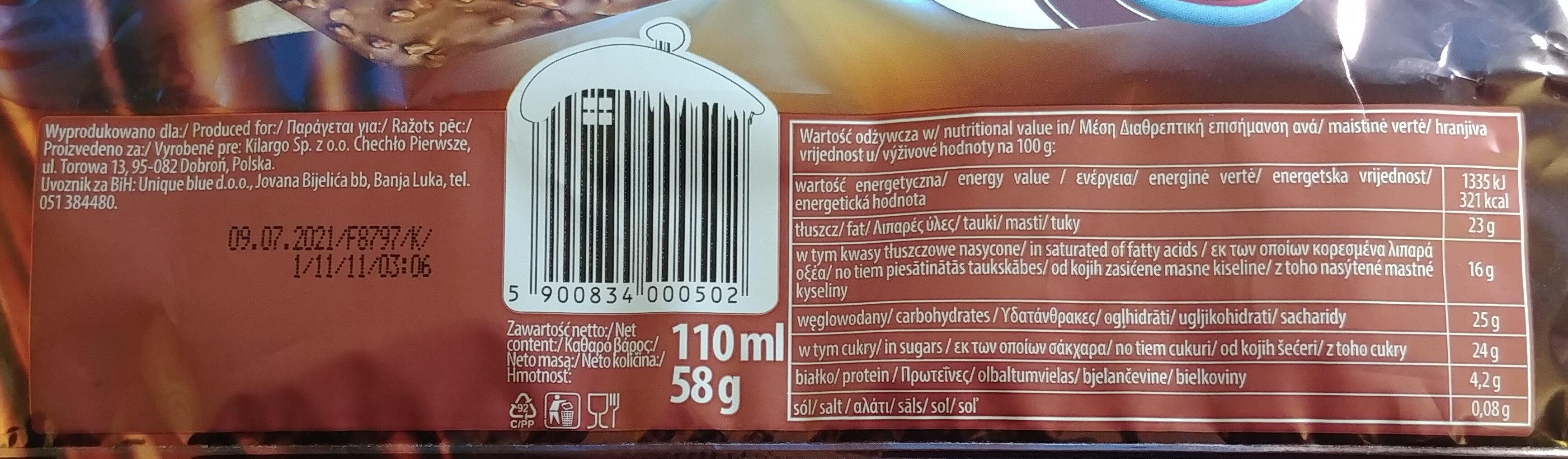 Lody o smaku śmietankowym w polewie kakaowej 26% z orzeszkami arachidowymi - Wartości odżywcze - pl