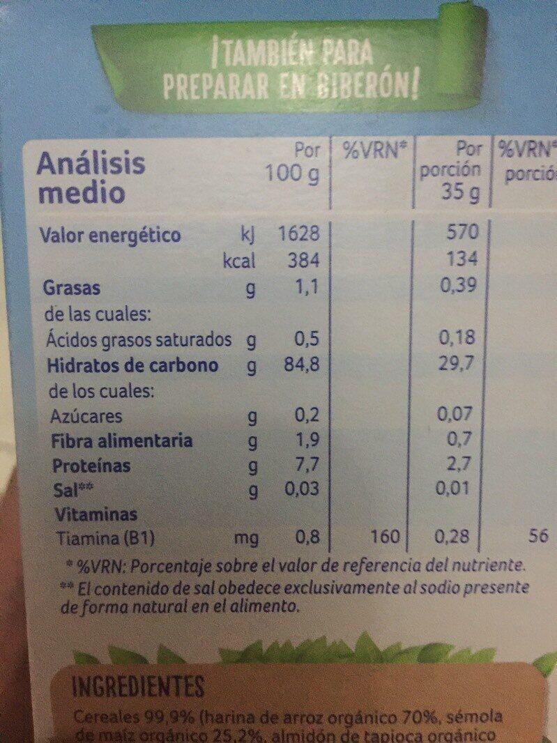 Almirón leche de continuación - Informations nutritionnelles - es