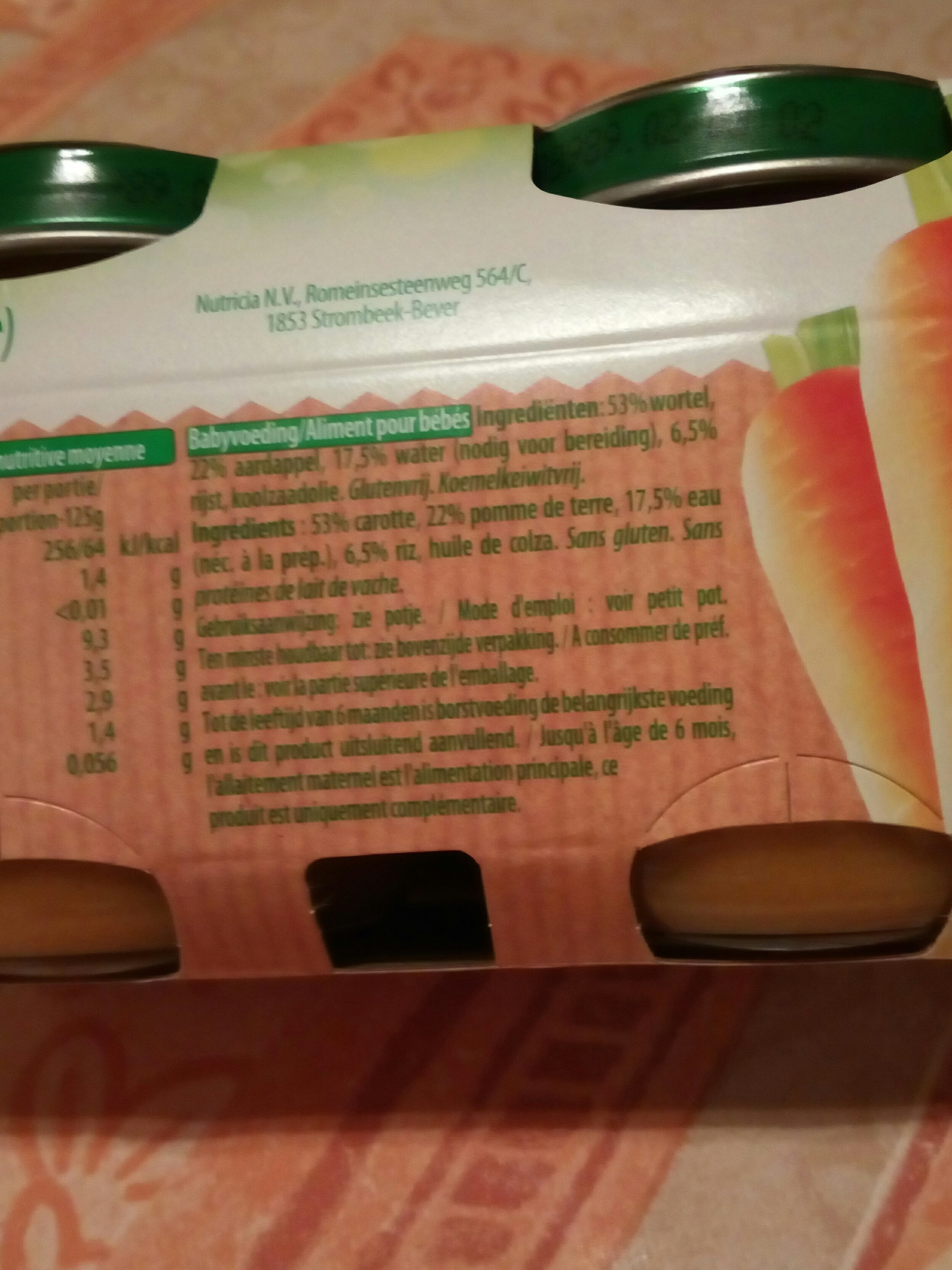 Carotte pomme de terre - Ingrediënten