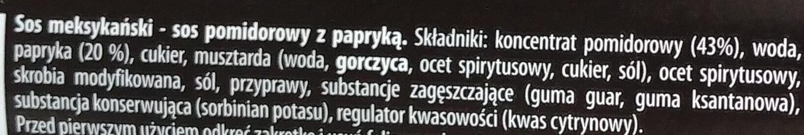 Sos meksykański - Składniki - pl