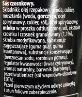 CZOSNKOWY - Ingredients - pl