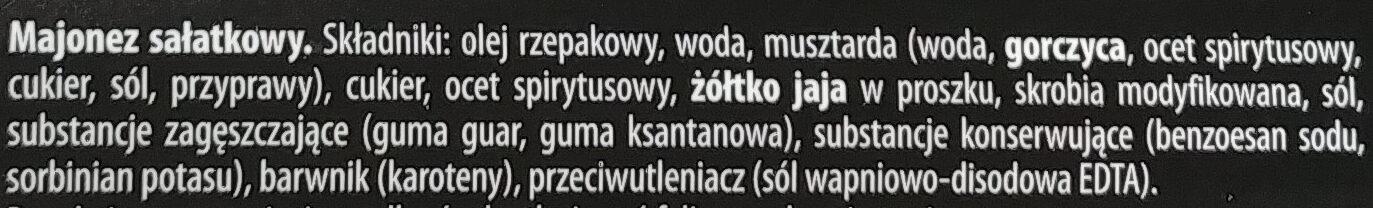 Majonez sałatkowy - Składniki - pl